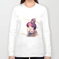 dj Long Sleeve T-shirts featuring Sweet Dj by fawnfruits