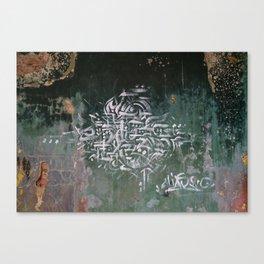 Abandoned House Graffiti II Canvas Print