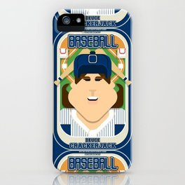 Baseball Blue Pinstripes - Deuce Crackerjack - June version iPhone Case