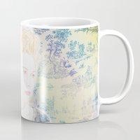 marie antoinette Mugs featuring MARIE ANTOINETTE by Itxaso Beistegui Illustrations