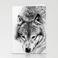 wolf Stationery Cards featuring Wolf by Anna Shell