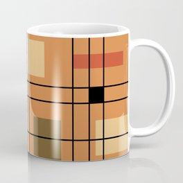 1950's Abstract Art Burnt Orange Coffee Mug