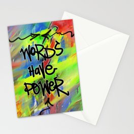 Words Have Power Stationery Cards