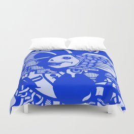Aqua Blue Duvet Cover