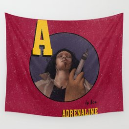 A is for Adrenaline Wall Tapestry