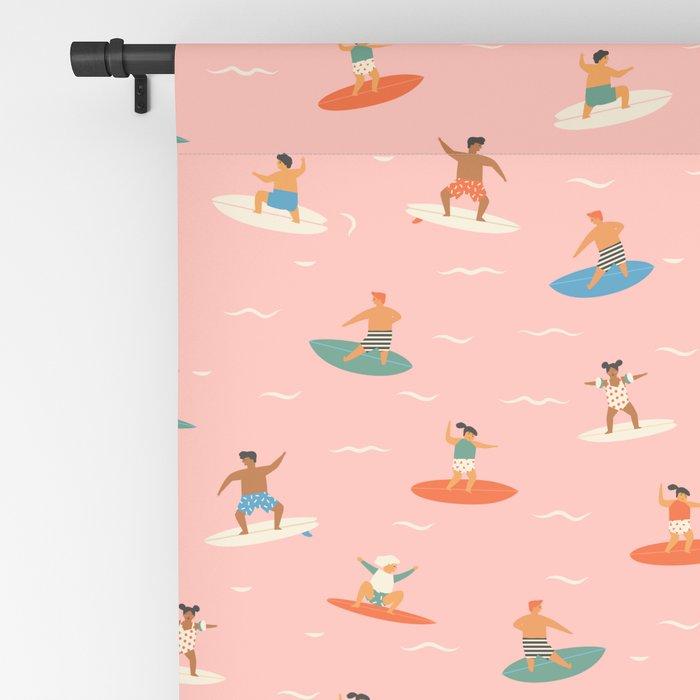 Surf kids Blackout Curtain