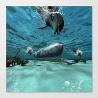 submarine Canvas Prints featuring Submarine  by nicky2342