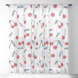 Summer Cherries Sheer Curtain