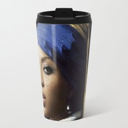 Bey with a Pearl Earring Travel Mug
