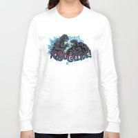 kaiju Long Sleeve T-shirts featuring Kaiju Collide by Austin James
