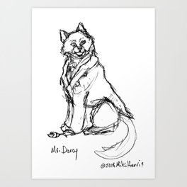 Mr. Darcy With Mouse Art Print