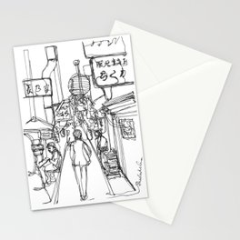 Shinjuku ku, Japan (Continuous Line Drawing) Stationery Cards