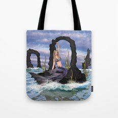 Stirring up the Sea Tote Bag