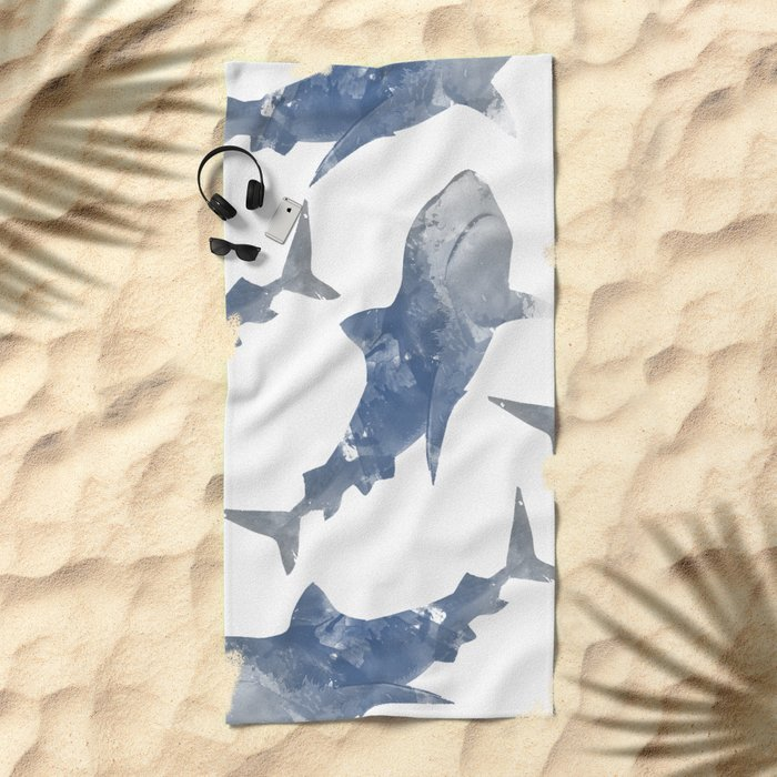 The World is Full of Sharks Beach Towel