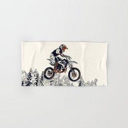 """High Flyer"" Motocross Racer Hand & Bath Towel"