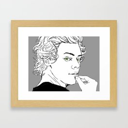 """"""" Black & White """" Framed Art Print"""