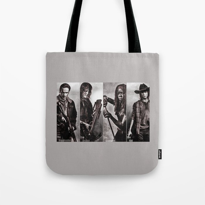 The Walking Dead - Rick Daryl Michonne Carl  Tote Bag