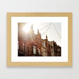 Belgian Homes Framed Art Print
