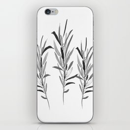 Eucalyptus Branches Black And White iPhone Skin