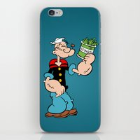 popeye iPhone & iPod Skins featuring Popeye the Sailor Man by CromMorc