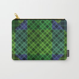 Blue green plaid Carry-All Pouch