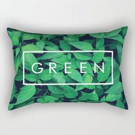 The Word GREEN Rectangular Pillow