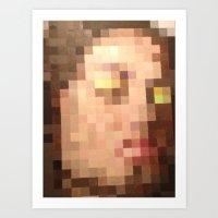 Pixelated Face Art Print