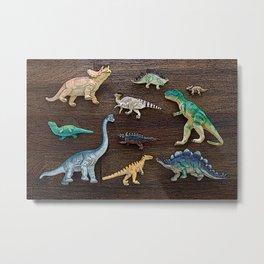 Dinosaur Toys Metal Print