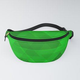 Bright green large triangles in the intersection and overlay. Fanny Pack