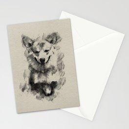 Pembroke Welsh Corgi Pencil Sketch Stationery Cards