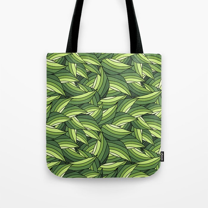 GREENERY LEAVES B  (abstract flowers nature) Tote Bag
