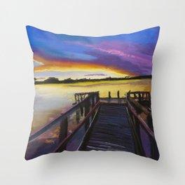 Shelley Bridge Sunset Throw Pillow