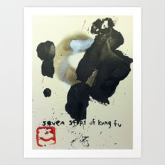SEVEN STEPS OF KUNG FU Art Print