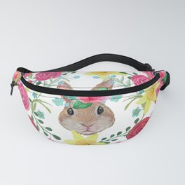 Easter rabbit floral beauty Fanny Pack