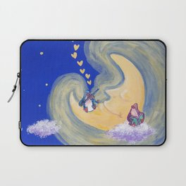 Friends of the Moon Penguins Violin Player and Book Lover Laptop Sleeve