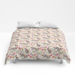 Bunny Meadow Pattern Comforters