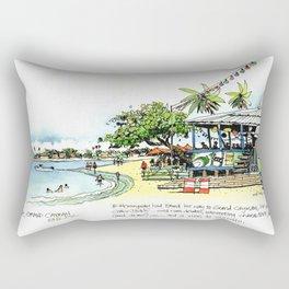 Calico Jack's, Grand Cayman (with notes) Rectangular Pillow