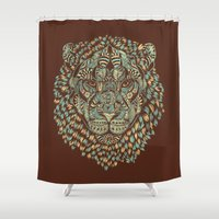 royal Shower Curtains featuring Lion (Royal) by Norman Duenas