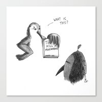 to kill a mockingbird Canvas Prints featuring KILL A MOCKINGBIRD by Stupid Little Squares