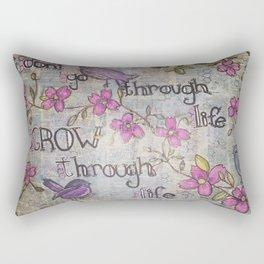 Grow Through Life Rectangular Pillow