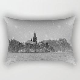 Snowy Bled Island Mono Rectangular Pillow