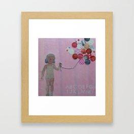 pink balloons Framed Art Print