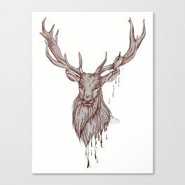 Heart of Deer Canvas Print