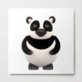 Cartoon Panda Metal Print