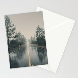 Hiking road explore Stationery Cards
