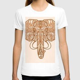 tribal indian henna elephant T-shirt