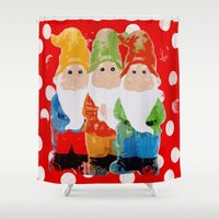 gnome Shower Curtains featuring Gnome by BLOOP