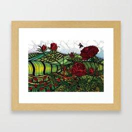 Red Roses - Watercolor Illustration Framed Art Print