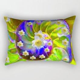 ULTRA VIOLET GREEN GARDEN  SPIRAL &  DAFFODILS ART Rectangular Pillow