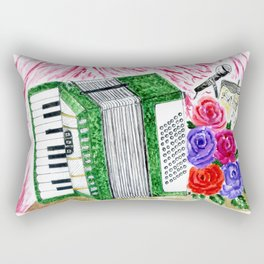 Accordion with roses Rectangular Pillow